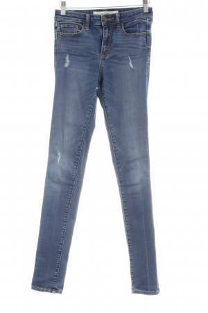 Abercrombie & Fitch Skinny Jeans blau Destroy-Optik