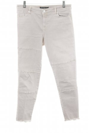 Abercrombie & Fitch Skinny Jeans creme Biker-Look
