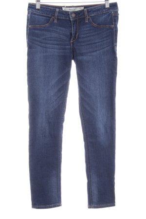 Abercrombie & Fitch Skinny Jeans dunkelblau-blassblau Washed-Optik