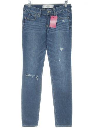 Abercrombie & Fitch Jeans skinny blu scuro-blu stile povero