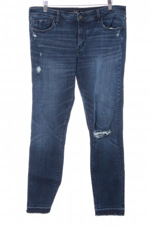 Abercrombie & Fitch Skinny Jeans dark blue distressed style
