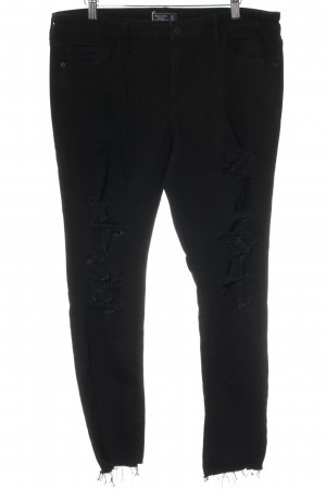 "Abercrombie & Fitch Skinny Jeans ""Harper Super Skinny"" schwarz"