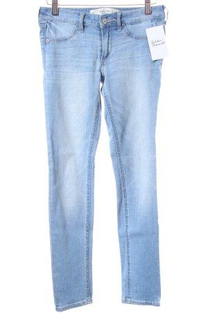 Abercrombie & Fitch Skinny Jeans hellblau Used-Optik