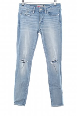 Abercrombie & Fitch Skinny Jeans himmelblau Destroy-Optik