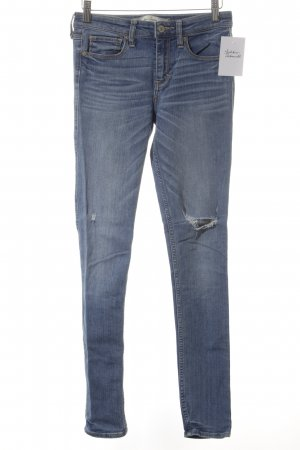 Abercrombie & Fitch Skinny Jeans himmelblau-hellorange Street-Fashion-Look