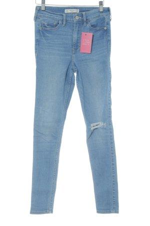 Abercrombie & Fitch Jeans skinny blu fiordaliso-azzurro stile povero