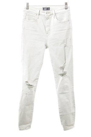 """Abercrombie & Fitch Skinny Jeans """"Simone"""" graugrün"""