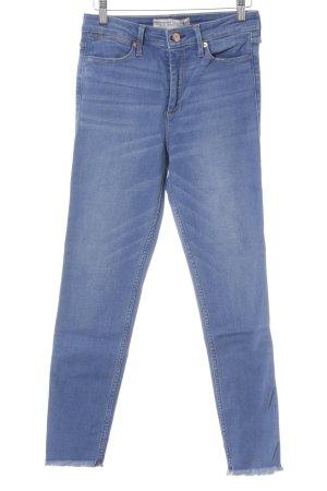 Abercrombie & Fitch Skinny Jeans stahlblau Used-Optik