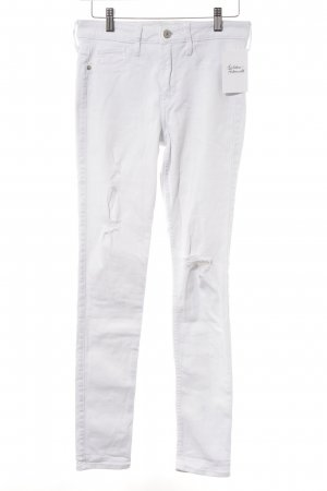 Abercrombie & Fitch Vaquero skinny blanco estilo dandy