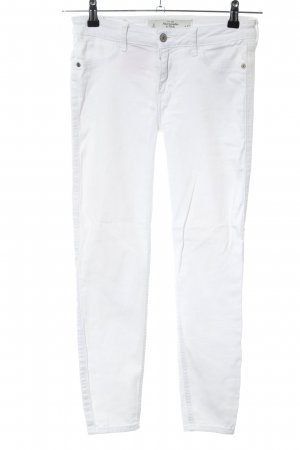 Abercrombie & Fitch Slim Jeans weiß Casual-Look