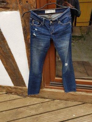 Abercrombie & Fitch Slim Jeans Gr. XS 34 blau