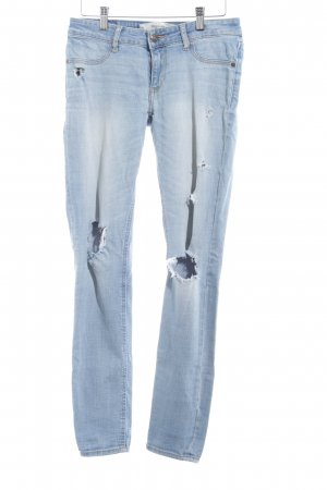 Abercrombie & Fitch Slim Jeans himmelblau-weiß Casual-Look