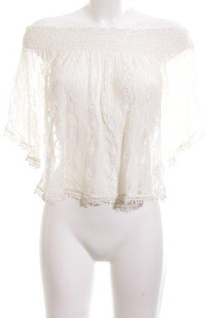 Abercrombie & Fitch Lace Blouse cream elegant