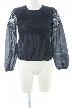 Abercrombie & Fitch Spitzenbluse dunkelblau Casual-Look