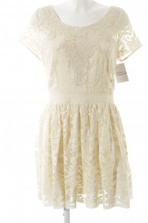 Abercrombie & Fitch Spitzenkleid creme Romantik-Look