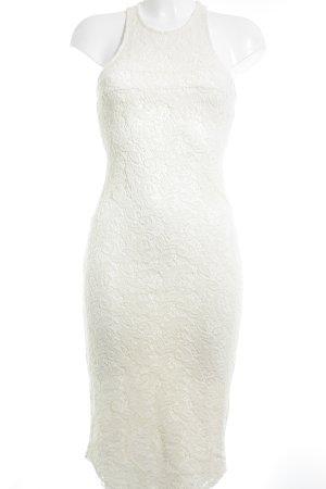 Abercrombie & Fitch Vestido de encaje blanco puro look Boho