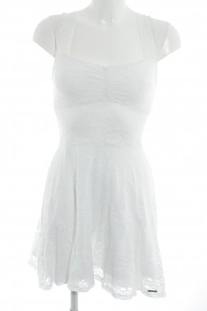 Abercrombie & Fitch Lace Dress natural white floral pattern romantic style