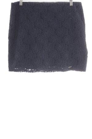 Abercrombie & Fitch Falda de encaje azul oscuro Apariencia de encaje