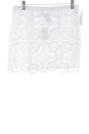 Abercrombie & Fitch Jupe en dentelle blanc motif abstrait style festif