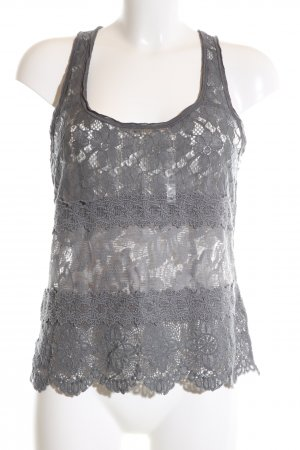 Abercrombie & Fitch Lace Top light grey casual look