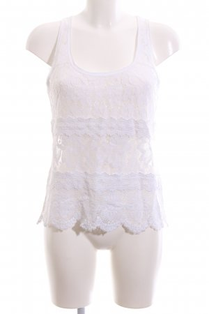Abercrombie & Fitch Lace Top white casual look