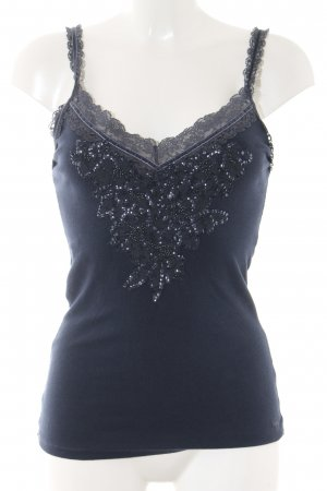 Abercrombie & Fitch Lace Top dark blue casual look