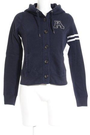 Abercrombie & Fitch Sportjacke dunkelblau-weiß sportlicher Stil