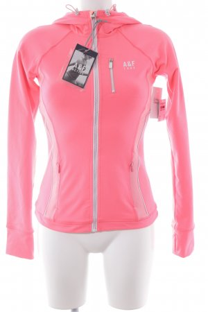Abercrombie & Fitch Chaqueta deportiva rosa neón estilo deportivo