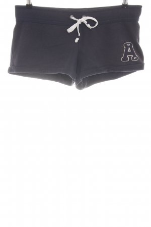 Abercrombie & Fitch Sport Shorts black embroidered lettering casual look
