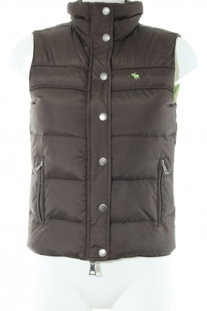 Abercrombie & Fitch Quilted Gilet bronze-colored quilting pattern casual look