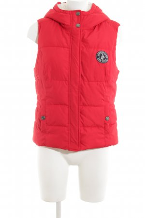 Abercrombie & Fitch Quilted Gilet red casual look