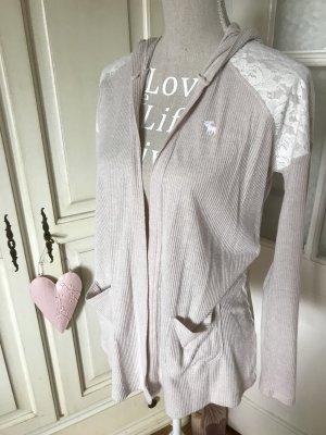 Abercrombie & Fitch Giacca in maglia rosa pallido-rosa antico