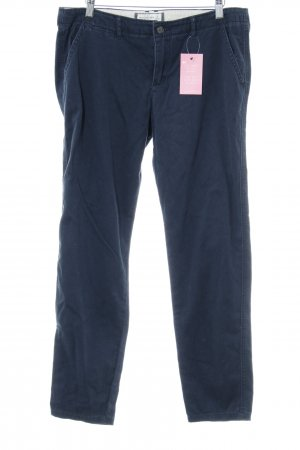 Abercrombie & Fitch Stoffen broek donkerblauw casual uitstraling