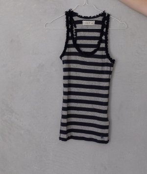 Abercrombie & Fitch Tank Top dark blue-grey cotton
