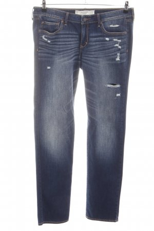 Abercrombie & Fitch Stretch jeans blauw casual uitstraling