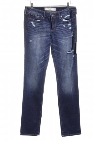 Abercrombie & Fitch Stretch Jeans dunkelblau Street-Fashion-Look