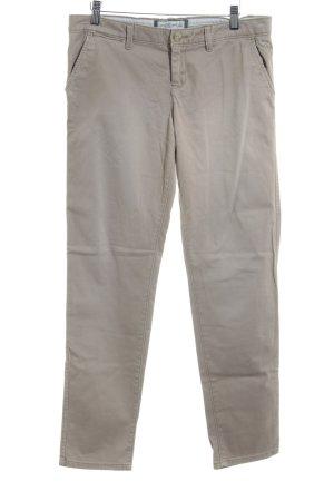 Abercrombie & Fitch Stretchhose beige schlichter Stil