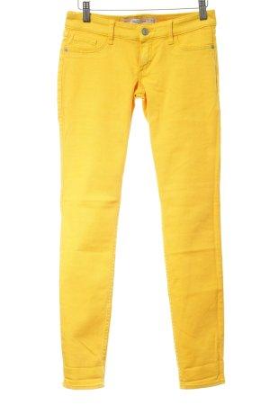 Abercrombie & Fitch Pantalone elasticizzato giallo scuro stile spiaggia