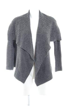 Abercrombie & Fitch Cardigan in maglia grigio scuro puntinato stile casual
