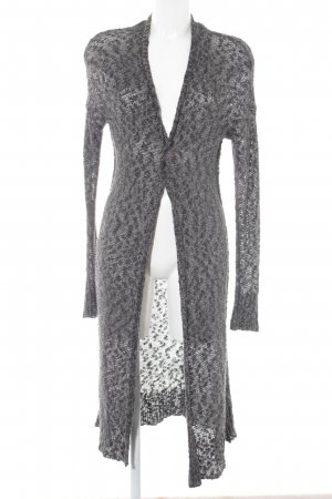 Abercrombie & Fitch Strick Cardigan dunkelgrau-weiß Casual-Look