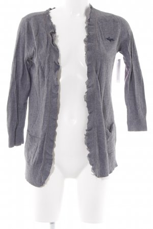 Abercrombie & Fitch Knitted Cardigan grey flecked casual look