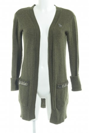 Abercrombie & Fitch Knitted Cardigan green grey-grass green flecked casual look