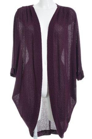 Abercrombie & Fitch Strick Cardigan purpur minimalistischer Stil