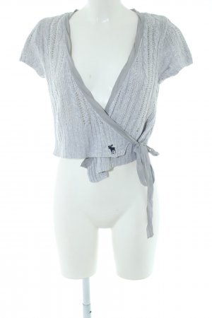 Abercrombie & Fitch Knitted Bolero light grey business style