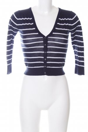 Abercrombie & Fitch Knitted Bolero blue-white striped pattern casual look
