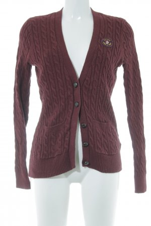 Abercrombie & Fitch Strickjacke dunkelrot Casual-Look
