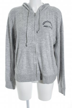 Abercrombie & Fitch Strickjacke grau-hellgrau grafisches Muster Casual-Look
