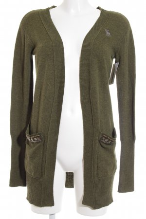 Abercrombie & Fitch Strickjacke khaki Casual-Look