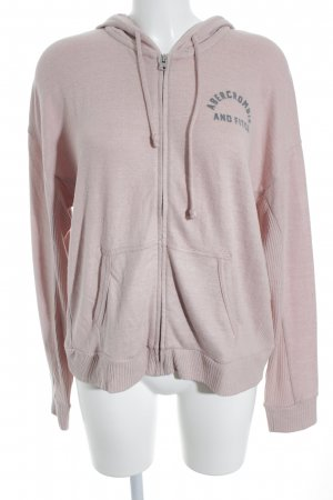 Abercrombie & Fitch Strickjacke roségoldfarben grafisches Muster Casual-Look