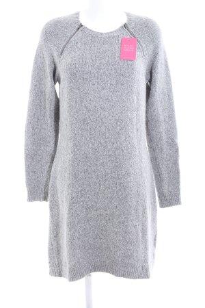 Abercrombie & Fitch Robe en maille tricotées gris clair torsades